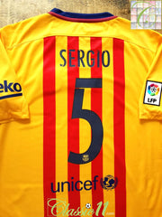 2015/16 Barcelona Away World Champions Football Shirt Sergio #5 (L)
