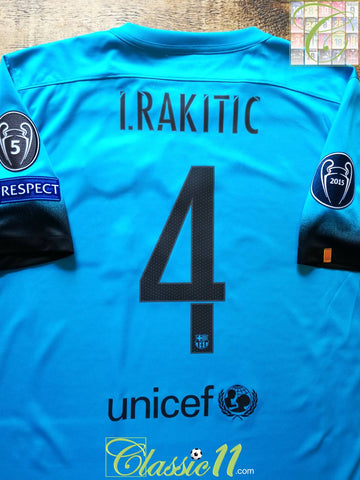 2015/16 Barcelona 3rd Champions League Football Shirt I.Rakitic #4 (L)