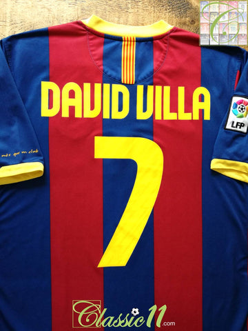 2010/11 Barcelona Home La Liga Football Shirt David Villa #7 (M)