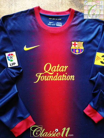 2012/13 Barcelona Home La Liga Football Shirt. (XL)