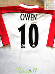 1998/99 Liverpool Away Premier League Football Shirt Owen #10 (XL)