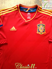 2011/12 Spain Home Football Shirt (S)