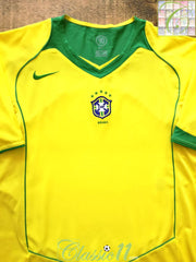 2004/05 Brazil Home Football Shirt (XL)