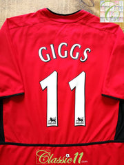 2002/03 Man Utd Home Premier League Football Shirt Giggs #11 (M)