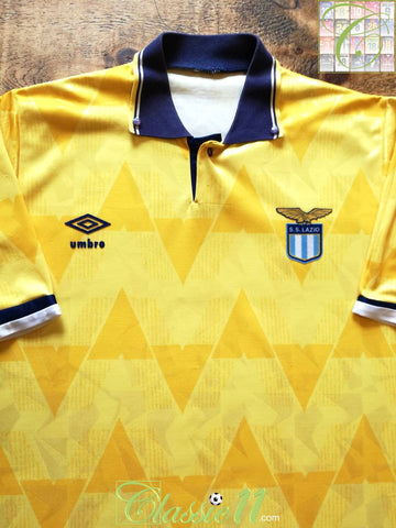 1989/90 Lazio Away Football Shirt (L)