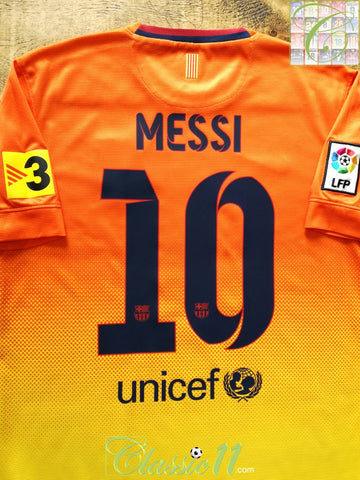 2012/13 Barcelona Away La Liga Football Shirt Messi #10 (S)