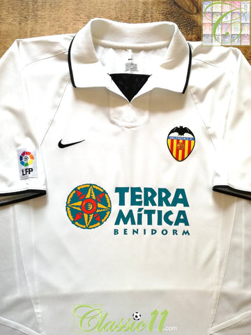 2002/03 Valencia Home La Liga Football Shirt (XL)