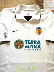 2002/03 Valencia Home La Liga Football Shirt (L)