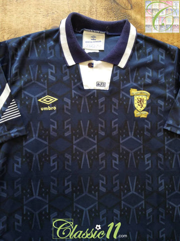 1991/92 Scotland Home Football Shirt (M)