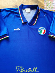 1985/86 Italy Home Football Shirt (XL)