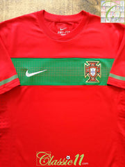 2010/11 Portugal Home Player Issue Football Shirt (L)