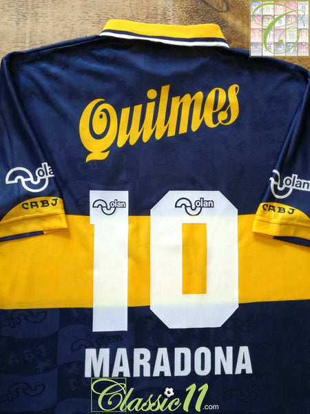sports shoes f3215 d1380 1996 Boca Juniors Home Football Shirt Maradona #10 / Old ...