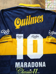 1996 Boca Juniors Home Football Shirt Maradona #10 (XL)