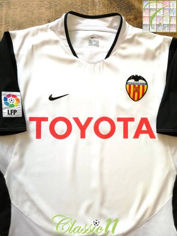 2003/04 Valencia Home La Liga Football Shirt (L)