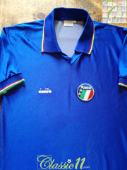 1985/86 Italy Home Football Shirt (L)