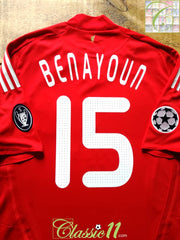 2008/09 Liverpool Home Champions League Player Issue Football Shirt Benayoun #15 (L)