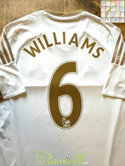 2015/16 Swansea City Home Premier League Football Shirt Williams #6 (M)