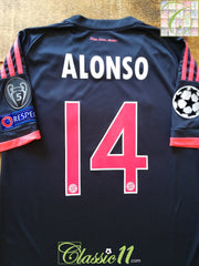 2015/16 Bayern Munich 3rd Champions League Football Shirt Alonso #14 (S)