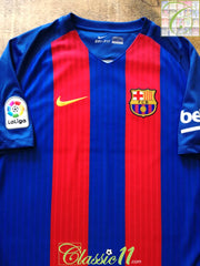 2016/17 Barcelona Home La Liga Football Shirt (M)