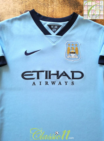 2014/15 Man City Home Football Shirt (W) (M)