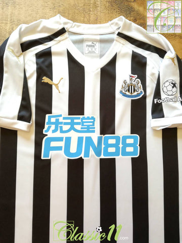 2018/19 Newcastle United Home Football Aid Shirt (XL)