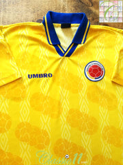 1994/95 Colombia Home Football Shirt (L)