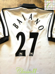 1997/98 Derby County Home Premier League Football Shirt Baiano #27 (L)