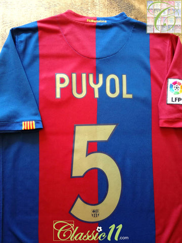 2006/07 Barcelona Home La Liga Football Shirt Puyol #5 (M)