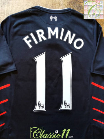 2016/17 Liverpool Away Premier League Football Shirt Firmino #11 (S)