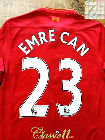 2016/17 Liverpool Home Premier League Football Shirt Emre Can #23 (S)