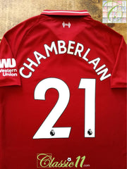 2018/19 Liverpool Home Premier League Football Shirt Chamberlain #21 (S)