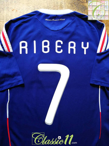 2009/10 France Home Football Shirt Ribery #7 (S)
