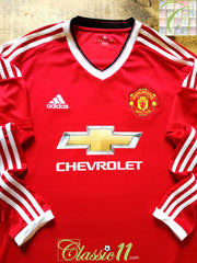 2015/16 Man Utd Home Football Shirt. (S)