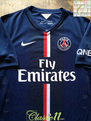 2014/15 PSG Home Player Issue Football Shirt (L)