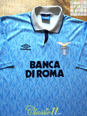 1992/93 Lazio Home Football Shirt (XL)