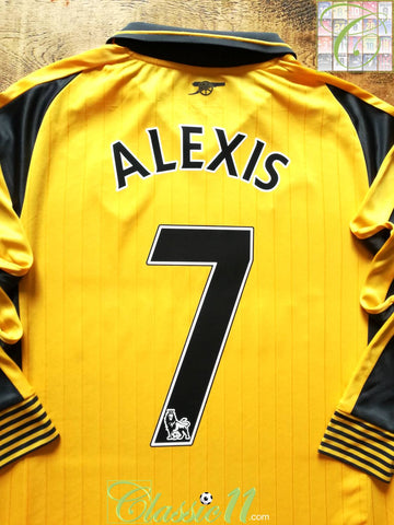 2016/17 Arsenal Away Premier League Football Shirt. Alexis #7 (S)