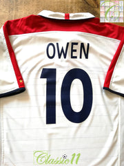2003/04 England Home Football Shirt Owen #10 (S)
