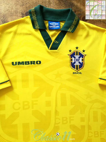 1993/94 Brazil Home Football Shirt (L)