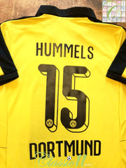 2015/16 Borussia Dortmund Home Football Shirt Hummels #15 (M)