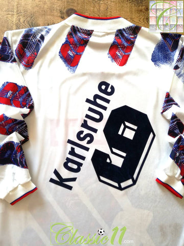 1994/95 Karlsruher SC Home Football Shirt. #9 (M)