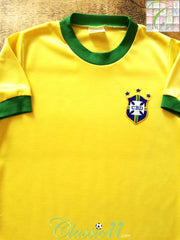 1976/77 Brazil Home Football Shirt (S)