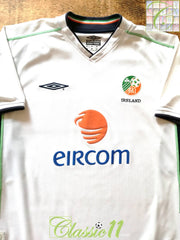 2002/03 Republic of Ireland Away Football Shirt (M)