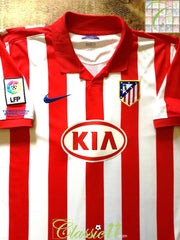 2009/10 Atlético Madrid Home La Liga Football Shirt (XL)