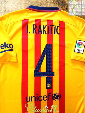 2015/16 Barcelona Away La Liga Football Shirt I.Rakitic #4 (M)