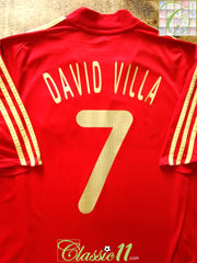 2007/08 Spain Home Football Shirt David Villa #7 (L)