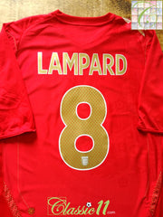 2006/07 England Away Football Shirt Lampard #8 (S)