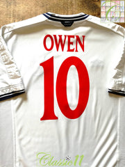 1999/00 England Home Football Shirt Owen #10 (L)