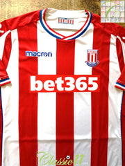 2017/18 Stoke City Home Football Shirt (XL) (Size 18)