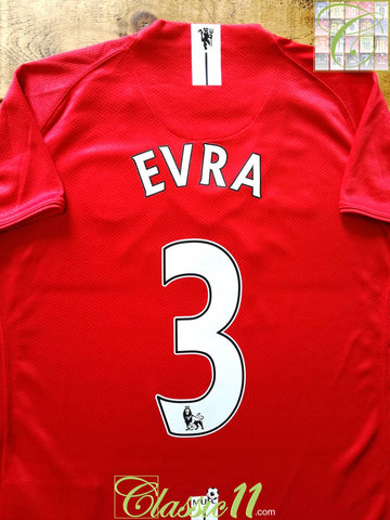 2007/08 Man Utd Home Premier League Football Shirt Evra #3 (W) (XL) *BNWT*
