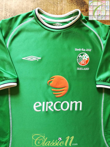 2002 Republic of Ireland Home World Cup Football Shirt (L)